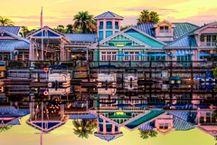 Disney's Old Key West Resort (Matt Pasant) Tags: morning vacation reflection water reflections hotel still disney resort disneyworld handheld hdr dvc oldkeywest disneyvacationclub canoneos7d 18270mm morningmagichour