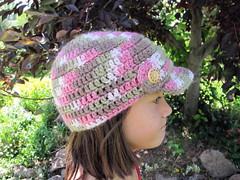 R's Cute Camo Cap #1 (eclectic_chica) Tags: hat kids crochet yarn cap