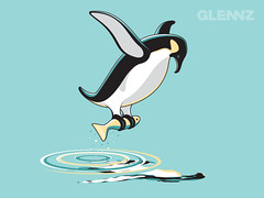 Rare Sighting (Glennz Tees) Tags: art nerd fashion illustration penguin design flying fishing funny geek drawing humor cartoon tshirt illustrator draw popculture tee rare vector ai apparel adobeillustrator glenz glennjones glenjones glennz gleenz glennnz