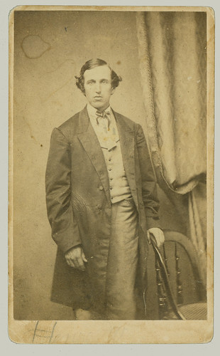 CDV man and chair