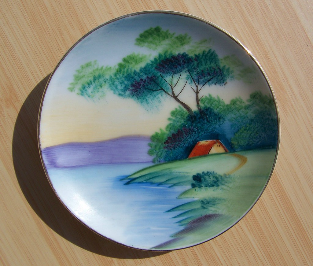 Hand Painted Occupied Japan Plate