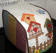 Capa Mquina de Po (Arte de Unir Retalhos) Tags: capa patchwork cozinha casinha aplique capamquinadepo