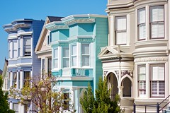 Edwardian houses, San Francisco, CA, USA