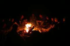 Riverside Campfire  on the sun Kosi  Adventure rafting and Kayaking river trip