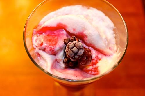 Blackberry Ice cream Floats