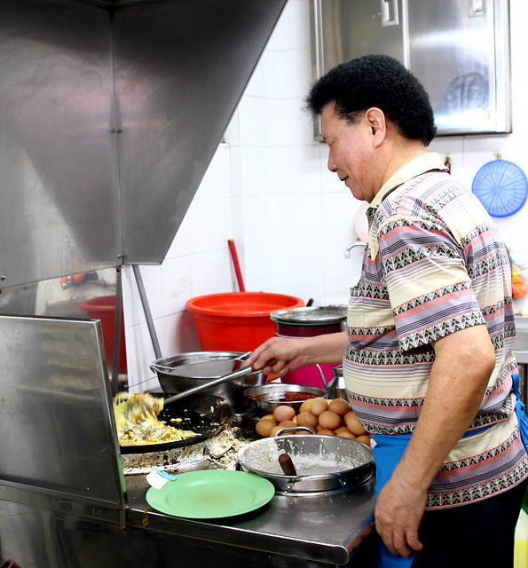 The boss Uncle Tan from Ah Chuan Oyster Omelette