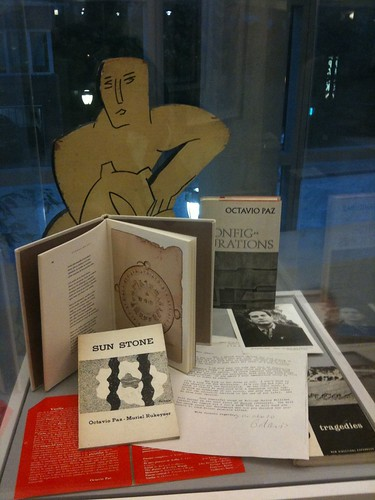 New Directions books on display, including several by Octavio Paz