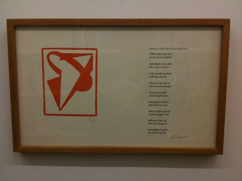 A broadsheet poem by James Laughlin @ Poets House