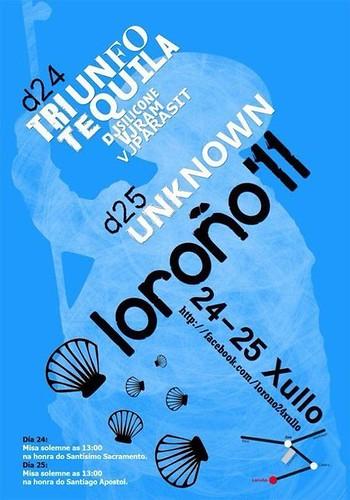 Zas 2011- Festas de Loroño - cartel