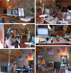 My Studio in Braives (Ben Heine) Tags: original music house inspiration reflection art apple architecture bar computer painting studio mirror mac belgium belgique abstractart traditionalart paintings creative objects peinture canvas messy electro inside walls miroir mur toile atelier bordel dsordre benheine braives sensartion