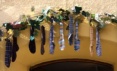 Wool-shop decoration (Linda6769 (hiking)) Tags: shop germany bavaria town sock handmade hilpoltstein woolshop