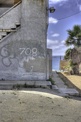 708 4th St (Sebastian Humphreys) Tags: ocean california abandoned beach buildings coast empty walkabout coastline hdr encinitias encinitiasoceanabondedbeachbluebuildingscoastcoastlinegreenwalkaboutwaves