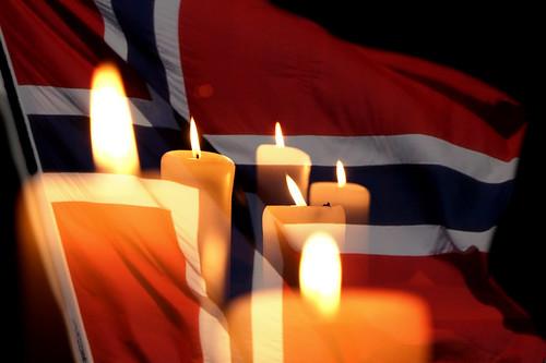 フリー写真素材, 物・モノ, 国旗, ノルウェー, ろうそく・キャンドル,