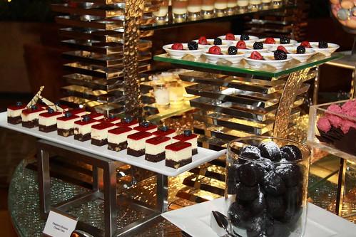 Raspberry Brownie Cheesecake, Chocolate Creme Brulee and Chocolate Brownies