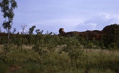 1964 - Khrushchev Rock near Kununurra - KHS-2011-31-511-0.90-P2-D (Kununurra Historical Society) Tags: khs201131511090p2d scenery scenic eastkimberleyscenery geology ranges mountains waterfalls sunsets wilderness ordriverirrigationarea oria ordriver kimberleyresearchstation krs csiro agriculturewa wadepartmentofagriculture agdept agriculture irrigation entomologist entomology kevinrichards kevinrichardsfamilycollection kununurra kununurrahistoricalsociety history kimberleyhistory kimberley eastkimberley shireofwyndhameastkimberley khs hylik hylitk ohia khia westernaustralia australia