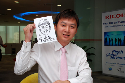 Caricature live sketching for Ricoh Roadshow - 1