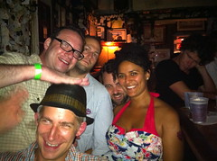 With friends at Old Absinthe House