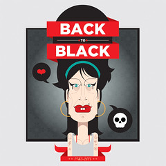 back to black (francescoporoli) Tags: portrait illustration illustrator francesco amywinehouse vektor backtoblack poroli francescoporoli