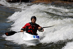 Playboater at Brennan's Wave, Downtown Missoula (CT Young) Tags: montana whitewater kayak mt missoula kayaking gardencity playboat playboating caraspark missoulamt clarkforkriver missoulamontana freestylekayaking downtownmissoula brennanswave canonef70200mmf4lusm