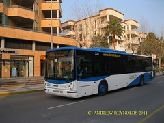 2011 02 09 SCANIA N94 HISPAN0 LLORENTE BUS NO221 ROUTE 1O AT ALBIR (Andrew Reynolds transport view) Tags: bus coach spain transport route 02 09 transit passenger autobus scania autobuses 1o 2011 llorente at n94 no221 allecante hispan0 albireurope