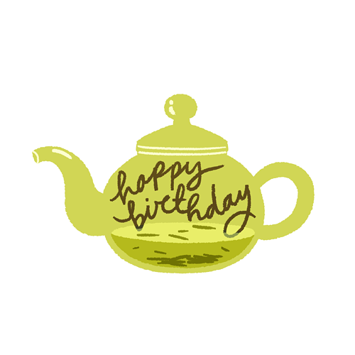 Birthday Teapot