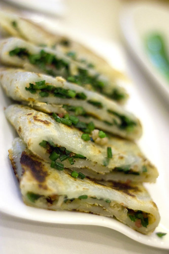 Crepes with Dried Scallop and Chive