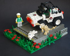 Wrong turn (Ironsniper) Tags: park lego jeep jp jurassic dinosaurs