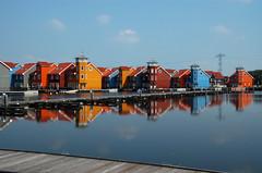 reitdiephaven #1 (Aluiken) Tags: houses water colors nikond50 groningen reitdiep huizen kleuren reitdiephaven