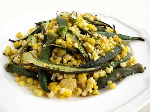 corn and okra salad