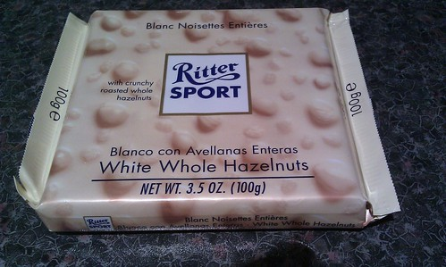 Ritter Sport White with Whole Hazelnuts
