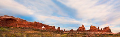 City of Arches. . . (CharleneM50) Tags: sky panorama nature clouds arches archesnationalpark northwindowarch turrettarch