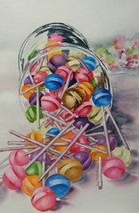 Terry Hosntead (Terry Honstead) Tags: glass colorful candy paintings childrenspaintings watercolorpaintings artcontemporaryart terryhonstead