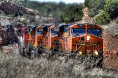 BNSF 7321 East 3 (ChasingSteel.com) Tags: railroad arizona train bnsf intermodal 7321 7247 4991 7535 gees44dc transcon gedash944cw seligmansubdivision chasingsteelcom westdoublea