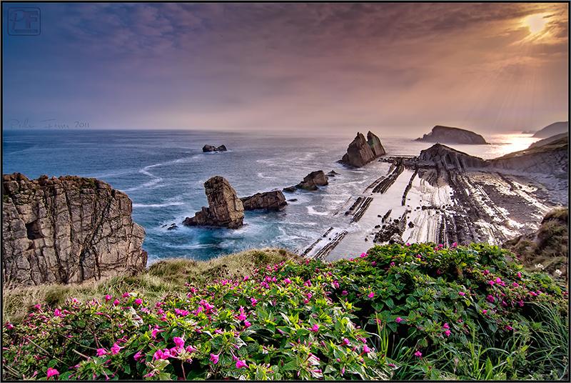 Cantabria - Costa Quebrada - La Arnia al amanecer (qué fácil parece...)