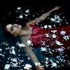 Douce Poésie (Helen Warner (airgarten)) Tags: flowers summer lake water girl photography petals fine arts floating poetic helen warner romantic dreamy airgarten truthandillusion
