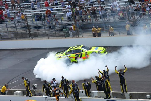 Paul Menard wins the 2011 Brickyard 400 presented by Big Machine Records