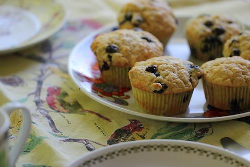 blueberry + lemon muffins