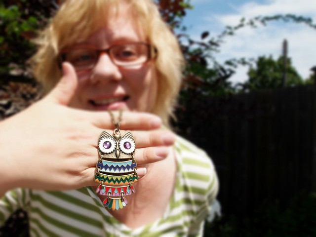 owl necklace funtime