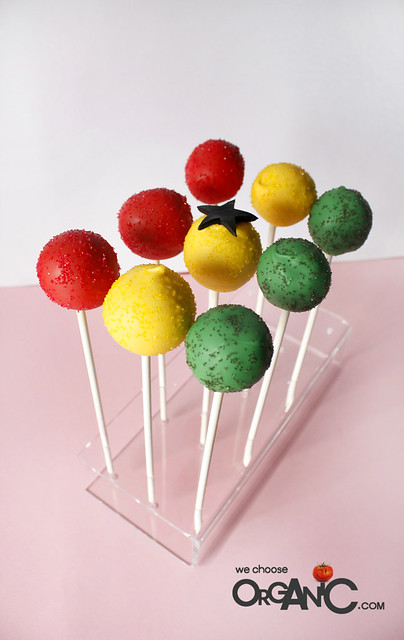 Colorful Ghana Flag Themed Cake Pops Niner Bakes