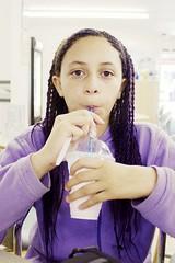 Larissa drinks a Shmoo