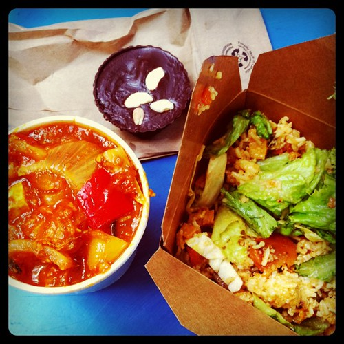 Miso Rice Salad, Tofu Chili and Halva Cup from Sweet Cherubim