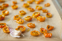 slow roasted golden cherry tomatoes (sassyradish) Tags: summer cooking yellow vegan tomatoes vegetarian kosher sassyradish glutenfree parve
