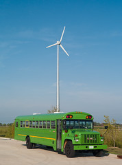 Green (animefx) Tags: leica blue summer sky color colour bus green digital illinois colorful wind rangefinder generator m8 springfield turbine windturbine greenenergy 2011 greenbus 40mmf2 leicam8 digitalrangefinder
