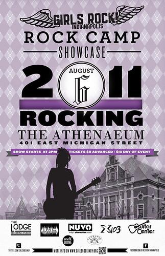 Girls Rock! Indy Showcase Poster