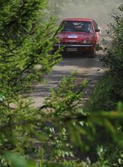 240 Jiri Navratil and Julius Gal (CZ) in Opel Manta B GT/E (smerikal) Tags: b red summer car race open rally racing historic lahti em manta gte hassi