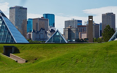 Another view of Edmonton's pyramids (Matthew P Sharp 1984) Tags: city canada edmonton alberta 7d hdr muttart