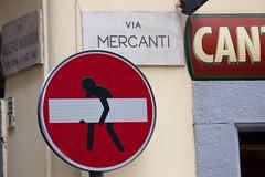 Via i divieti! (smenega) Tags: street italien urban italy art torino italia cartello turin divieto dartista