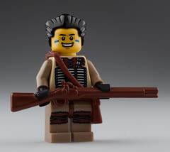 Indian Soldier of 1763 (~Ghost Soldier~) Tags: french soldier war indian chief bap battle prototype warrior british hunter proto musket 1763 brickarms