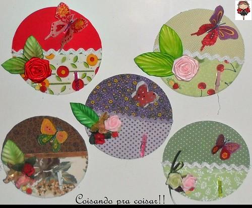 Porta recados de CD.............Reciclagem ♥ ♥ by Coisando as Coisas by Clau