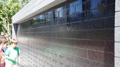 Vandalism at the 35W Bridge Memorial